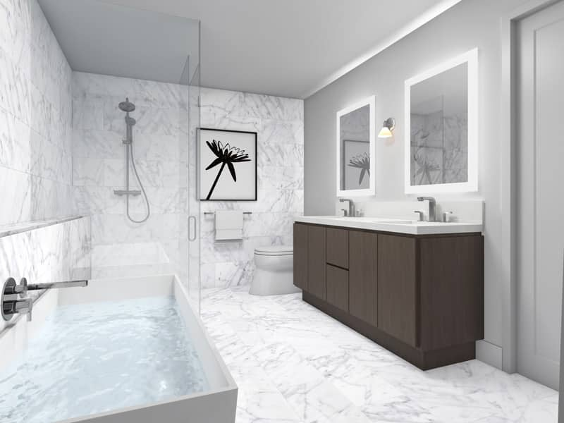 Combined or separate, redesign bathroom